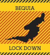 Bequia Lock Down Sign. Yellow ...