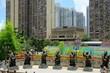Hong Kong China - Statues of Chinese zodiac animal signs at the Sik Sik Yuen Wong Tai Sin Temple