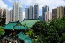 Hong Kong China - Landscape View Sik Sik Yuen Wong Tai Sin Temple