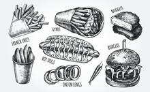 Ink Hand Drawn Set Of Various ...