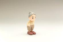 おばあさん【clay Doll】