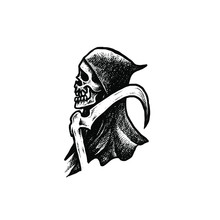 Grim Reaper Dotwork Illustration