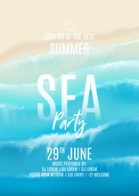 Summer Sea Party Flyer. Top Vi...