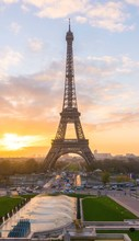 Eiffel Tower Against Sky At Sunset