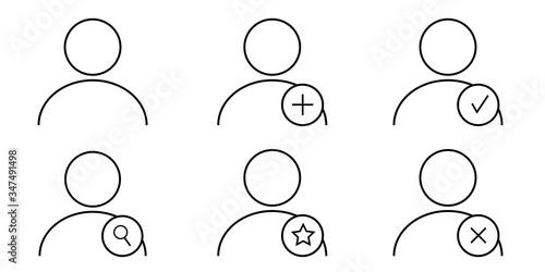 Ensemble d'icônes utilisateur et avatars Fototapeta