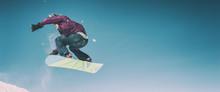 Freerider Snowboarder Doing Sp...