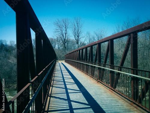 Stampa su Tela Footbridge Over River