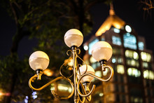 Close-up Of Lamp Post Against ...