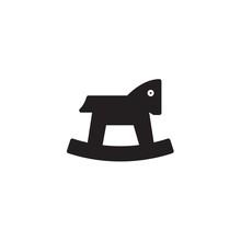 Rocking Horse Icon Vector Illu...