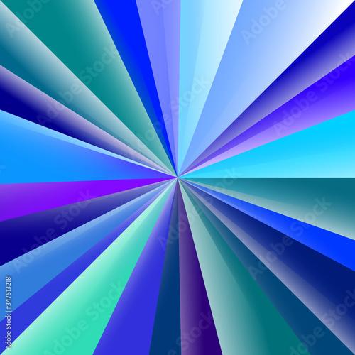 Fototapeta Motifs triangulaires sur des tons de bleu