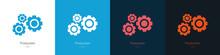 Set Of Gear Logos. The Concept...