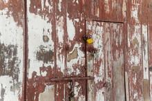 Full Frame Shot Of Weathered Door