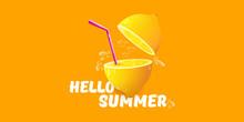 Vector Hello Summer Beach Part...