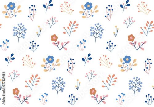 Obraz seamless floral pattern on a white background - fototapety do salonu