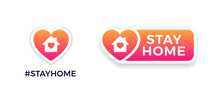 Stay Home Signs For Social Med...