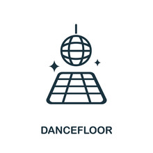 Dancefloor Icon. Simple Illustration From Night Club Collection. Creative Dancefloor Icon For Web Design, Templates, Infographics And More