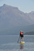 A Stand Up Paddler On Lake McD...
