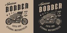 Custom Motorbike Vintage Monoc...
