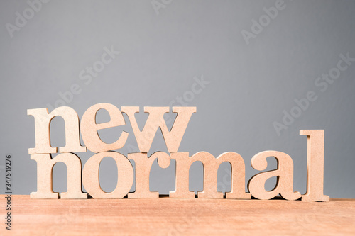 NEW NORMAL Wood Word Canvas Print