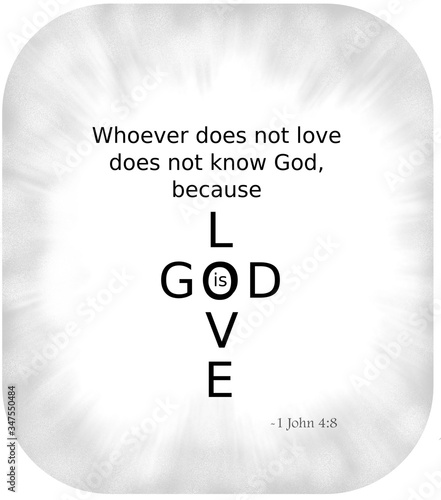 Photo God is Love cross at the end of the first john epistle 4:8