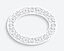 Oval Frame With Cutout Paper P...