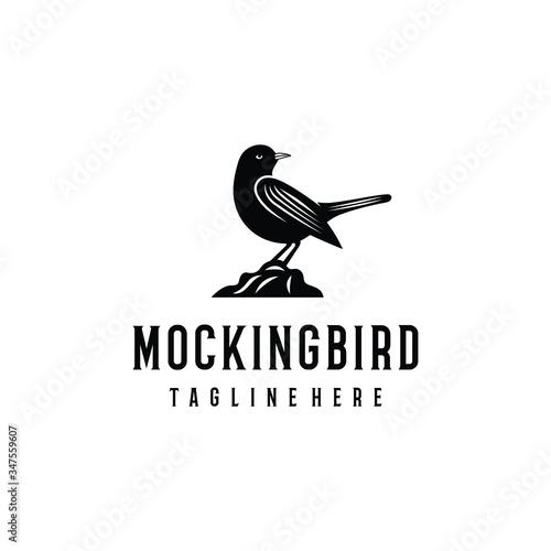 Mockingbird logo design Wallpaper Mural