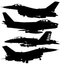 Silhouettes Of Military Aircra...