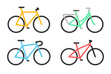 Full Color Bicycle Icon. Vecto...