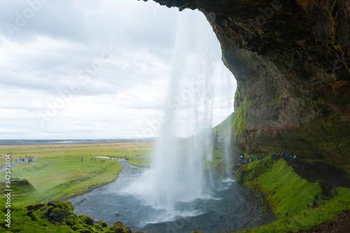 Fototapety, obrazy: Seljalandsfoss falls in summer season view, Iceland