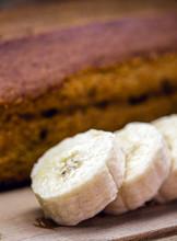 Homemade Banana Cake, Made In Brazil. Typical Brazilian Dessert.