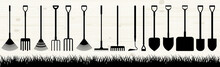 Many Garden Tools In The Assem...
