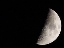 Close-up Of Moon Against Clear...