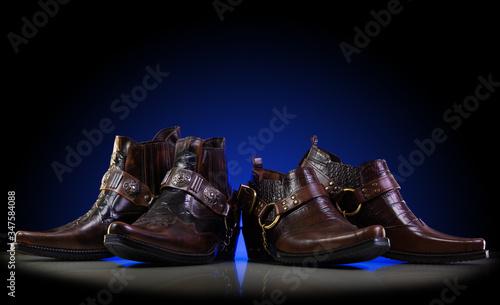 Valokuvatapetti Brown cowboy boots