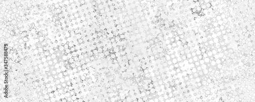 Obraz na plátně Monochrome grunge background of spots halftone.