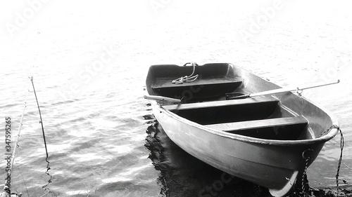 Stampa su Tela Boat Moored On Sea
