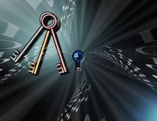 Keys And Binary Code. Cyber Se...