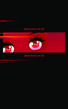 Black And Red Anime Eyes Spark...