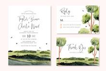 Wedding Invitation Set With Gr...