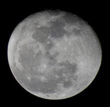 Low Angle View Of Half Moon Ag...