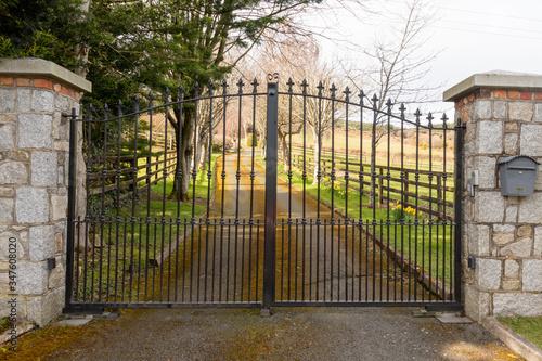 Vászonkép A closed gate to a residency