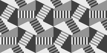 Seamless Pattern With Stairs M...