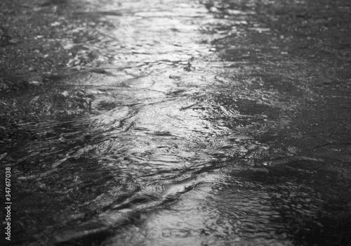 Wet Footpath During Rainy Season Fotobehang