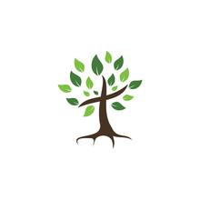Tree Religious Cross Symbol Icon Vector Design.