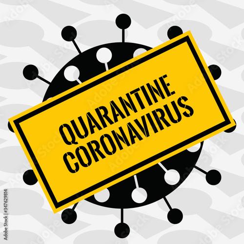 Symbol quarantine coronavirus Canvas Print
