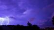 Leinwandbild Motiv Low Angle View Of Lightning Over City At Night