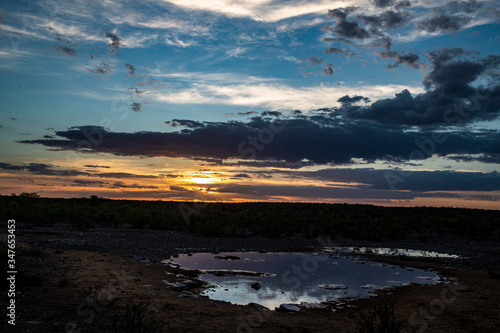 Sunset at Moringa Waterhole