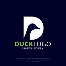 Initials D & Duck Creative Logo