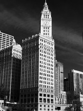 Low Angle View Of Wrigley Building Against Sky In City