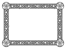 Vector Celtic Frame With A Kno...