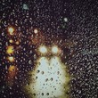 Full Frame Shot Of Wet Car Window During Rainy Season
